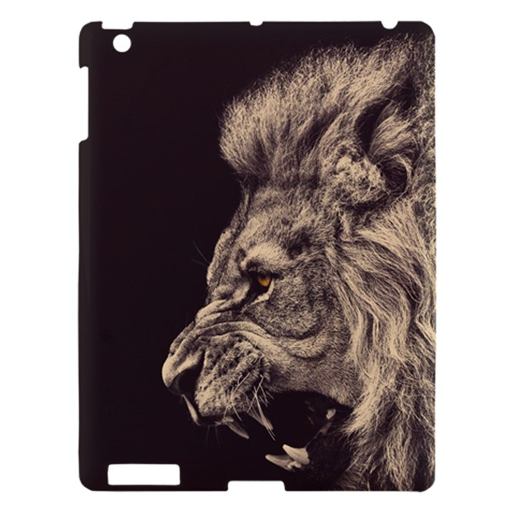 Angry Male Lion Apple iPad 3/4 Hardshell Case