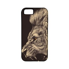 Angry Male Lion Apple Iphone 5 Classic Hardshell Case (pc+silicone)
