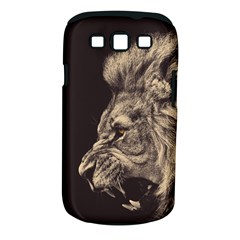 Angry Male Lion Samsung Galaxy S Iii Classic Hardshell Case (pc+silicone)