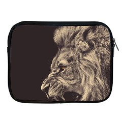 Angry Male Lion Apple Ipad 2/3/4 Zipper Cases
