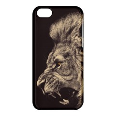 Angry Male Lion Apple Iphone 5c Hardshell Case