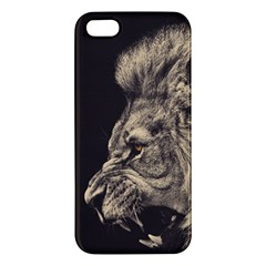 Angry Male Lion Iphone 5s/ Se Premium Hardshell Case
