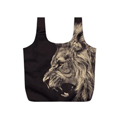 Angry Male Lion Full Print Recycle Bags (s)