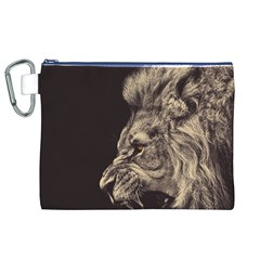 Angry Male Lion Canvas Cosmetic Bag (xl)