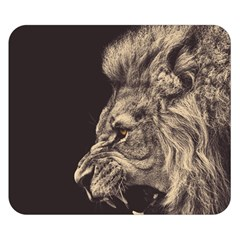 Angry Male Lion Double Sided Flano Blanket (small)