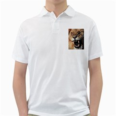 Male Lion Angry Golf Shirts