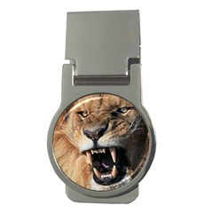 Male Lion Angry Money Clips (round)