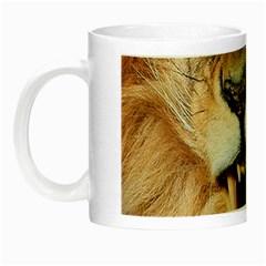 Male Lion Angry Night Luminous Mugs