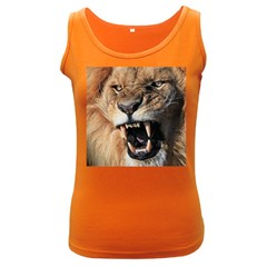 Male Lion Angry Women s Dark Tank Top
