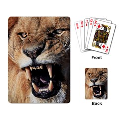 Male Lion Angry Playing Card