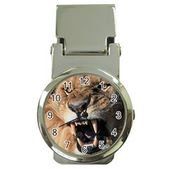 Male Lion Angry Money Clip Watches