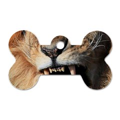 Male Lion Angry Dog Tag Bone (two Sides)
