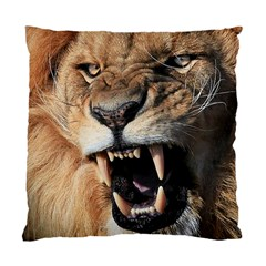 Male Lion Angry Standard Cushion Case (two Sides)