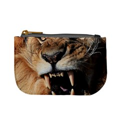 Male Lion Angry Mini Coin Purses