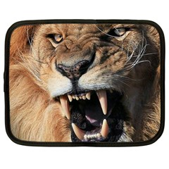 Male Lion Angry Netbook Case (xl)
