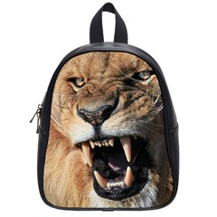 Male Lion Angry School Bag (small)