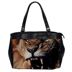 Male Lion Angry Office Handbags