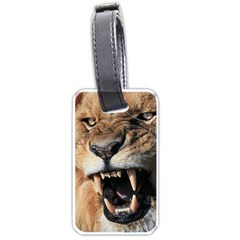 Male Lion Angry Luggage Tags (one Side)
