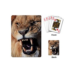 Male Lion Angry Playing Cards (mini)