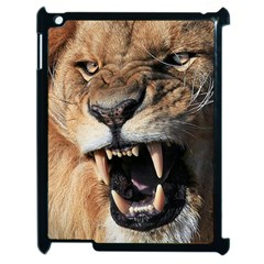 Male Lion Angry Apple Ipad 2 Case (black)