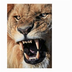 Male Lion Angry Small Garden Flag (two Sides)
