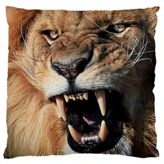Male Lion Angry Large Cushion Case (two Sides)