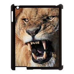 Male Lion Angry Apple Ipad 3/4 Case (black)