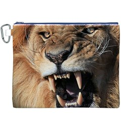 Male Lion Angry Canvas Cosmetic Bag (xxxl)