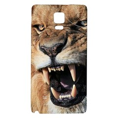 Male Lion Angry Galaxy Note 4 Back Case