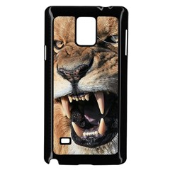 Male Lion Angry Samsung Galaxy Note 4 Case (black)