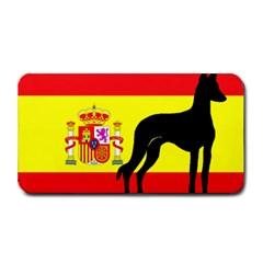 Ibizan Hound Silhouette Spain Flag Medium Bar Mats