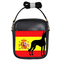 Ibizan Hound Silhouette Spain Flag Girls Sling Bags