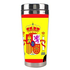 Ibizan Hound Silhouette Spain Flag Stainless Steel Travel Tumblers