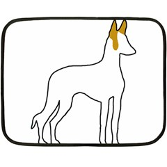 Ibizan Hound Silo Color2 Double Sided Fleece Blanket (mini)