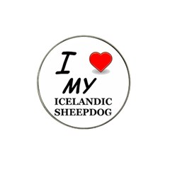 Iceland Sheepdog Love Hat Clip Ball Marker (10 Pack)