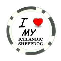 Iceland Sheepdog Love Poker Chip Card Guard
