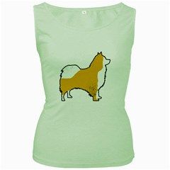 Icelandic Sheepdog Silo Color Women s Green Tank Top
