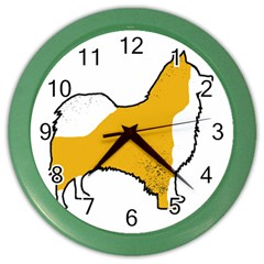 Icelandic Sheepdog Silo Color Color Wall Clocks
