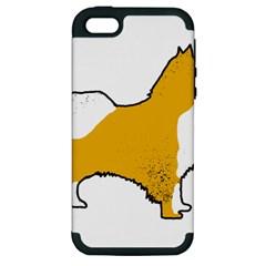Icelandic Sheepdog Silo Color Apple Iphone 5 Hardshell Case (pc+silicone)