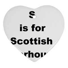 S Is For Scottish Deerhound Ornament (heart)