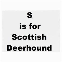 S Is For Scottish Deerhound Large Glasses Cloth (2 Side)