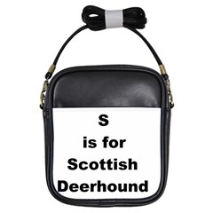 S Is For Scottish Deerhound Girls Sling Bags