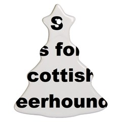 S Is For Scottish Deerhound Ornament (christmas Tree)
