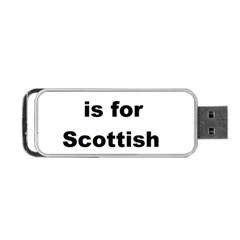 S Is For Scottish Deerhound Portable Usb Flash (one Side)