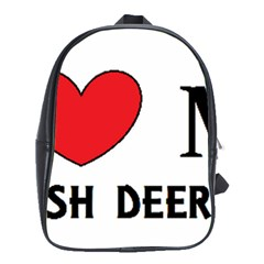 Scottish Deerhound Love School Bag (large)