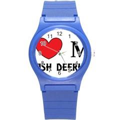 Scottish Deerhound Love Round Plastic Sport Watch (s)