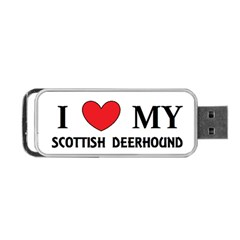 Scottish Deerhound Love Portable Usb Flash (one Side)