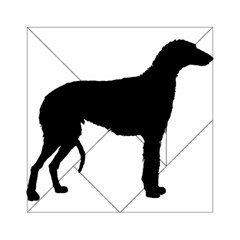 Scottish Deerhound Silo Black Acrylic Tangram Puzzle (6  X 6 )