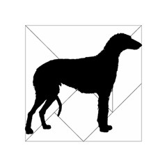 Scottish Deerhound Silo Black Acrylic Tangram Puzzle (4  X 4 )
