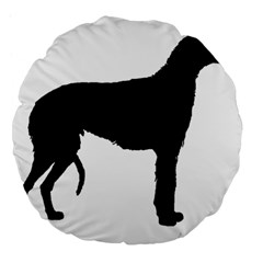 Scottish Deerhound Silo Black Large 18  Premium Flano Round Cushions